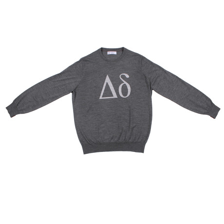 Orlandella Crew Neck Logo Sweater // Gray (Euro: 46)
