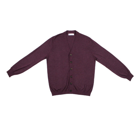 D'Aquila Cashmere Blend Cardigan // Purple (Euro: 46)