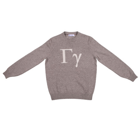 Gotti Cashmere Logo Sweater // Beige (Euro: 46)