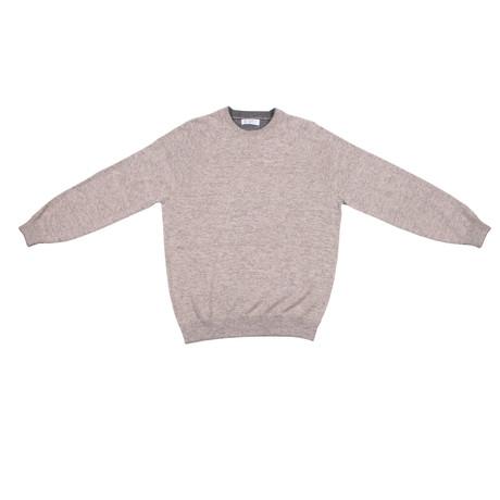 Corozzo Heavy Crew Neck Cashmere Sweater // Beige (Euro: 46)