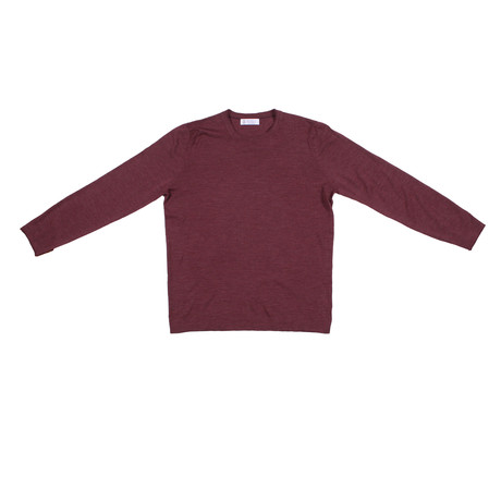 Cali Cashmere Blend Pullover Sweater // Maroon (Euro: 48)