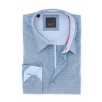 Derick Jacquard Shirt // Navy (L)