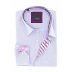 Nathanael Jacquard Shirt // Lilac (3XL)