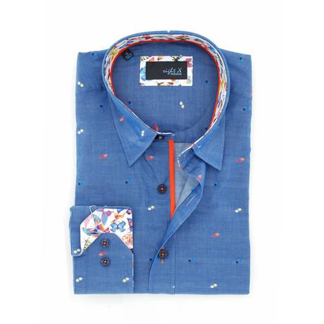 Jefferson Fill Coupe Button-Up Shirt // Indigo (S)