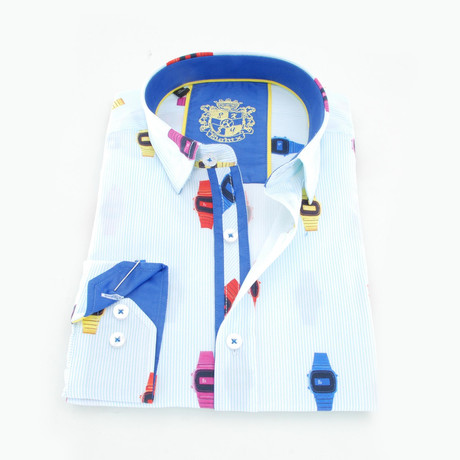 Leif Digital Print Shirt // White (S)