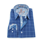 Darrell Fill Coupe Classic Fit Shirt // Navy (L)
