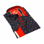 Shelby Jacquard Shirt // Red/Navy (3XL)