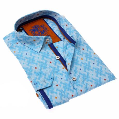 Lesley Jacquard Shirt // Blue (S)
