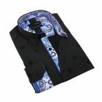 Carter Print Shirt // Navy (S)