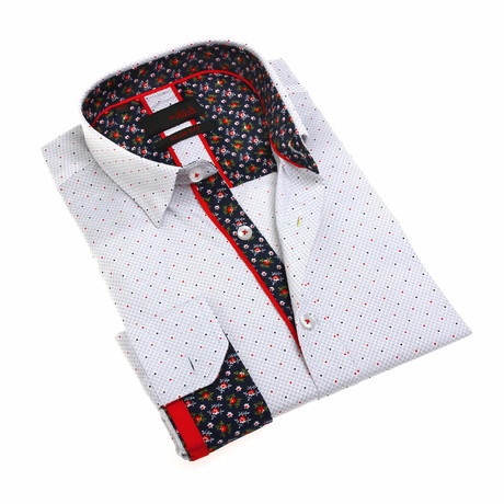 Hoyt Print Shirt // White (S)