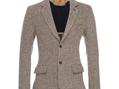 Photo of Nifty Genius Elevated Essentials Kurt Notched Lapel Top // Brown (M) by Touch Of Modern