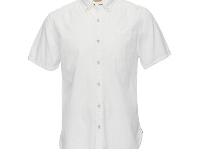 Nifty Genius Elevated Essentials Truman Short-Sleeve Button Collar Shirt // White (M) by Touch Of Modern - Denver Outlet