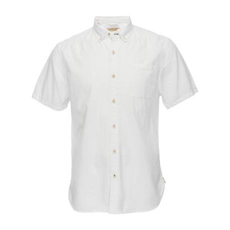 Truman Short Sleeve Button Collar Shirt // White (XS)