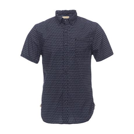 Truman Short Sleeve Button Collar Shirt // Navy (XS)