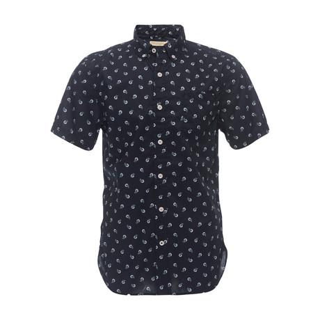 Truman Short Sleeve Button Down Shirt // Navy (XS)