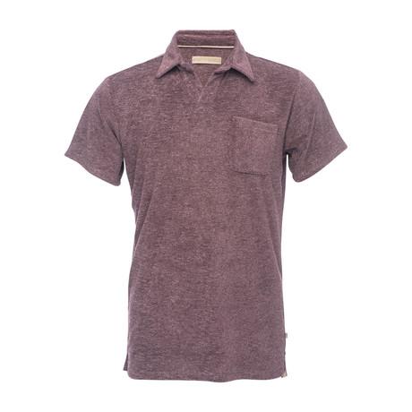 Nicholas Terry Polo Shirt // Burgundy (XS)