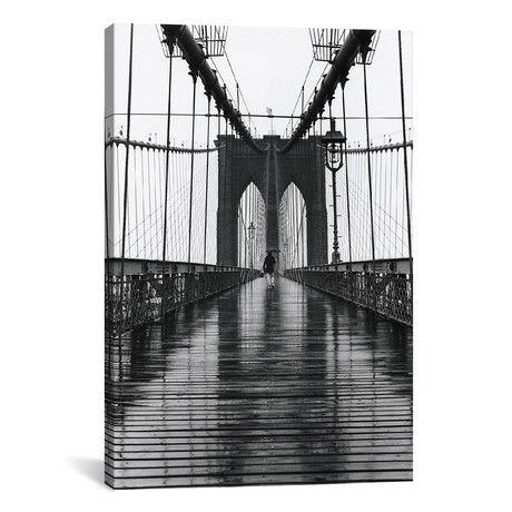 "Brooklyn Bridge (New York City) // Christopher Bliss (12""W x 18""H x 0.75""D)"
