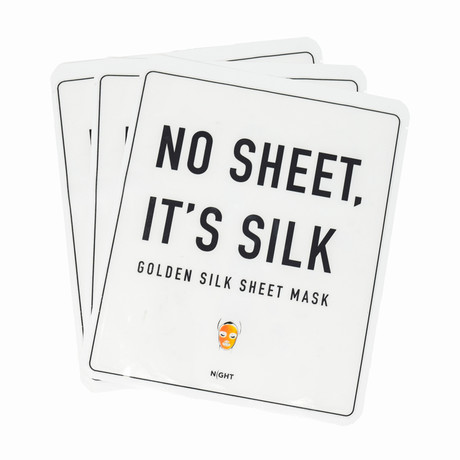 NIGHT Golden Silk Sheet Mask // Set of 3