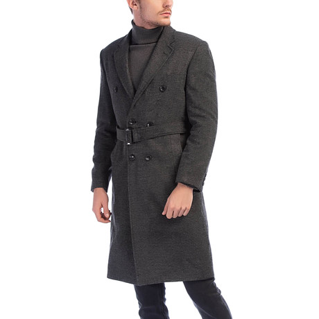 PLT8316 Overcoat // Patterned Gray (M)