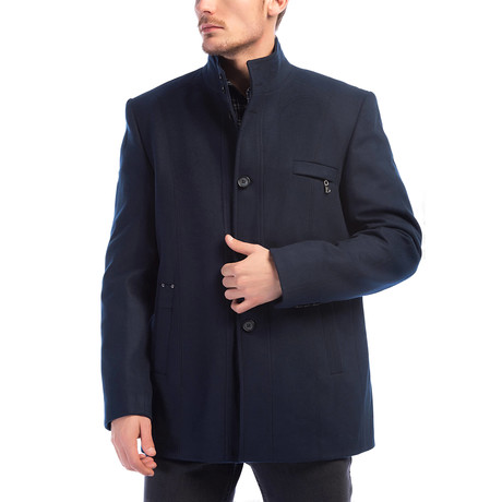 Moscow Overcoat // Dark Blue (Small)