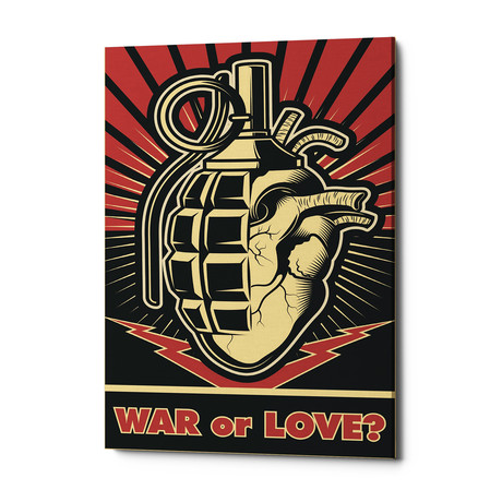 "War Or Love (18""W x 26""H x 0.75""D)"