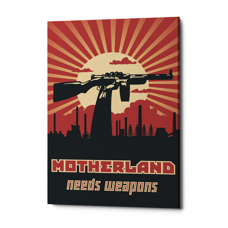 "Motherland Needs Weapons (18""W x 26""H x 0.75""D)"