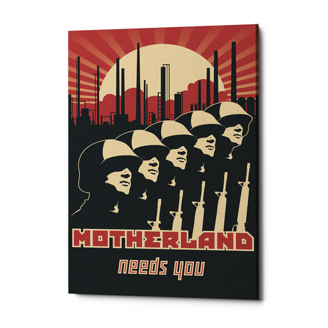 "Motherland Needs You (18""W x 26""H x 0.75""D)"