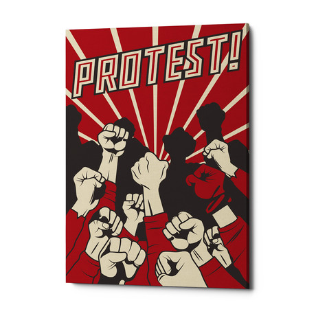 "Protest (18""W x 26""H x 0.75""D)"