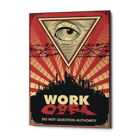 "Work (18""W x 26""H x 0.75""D)"