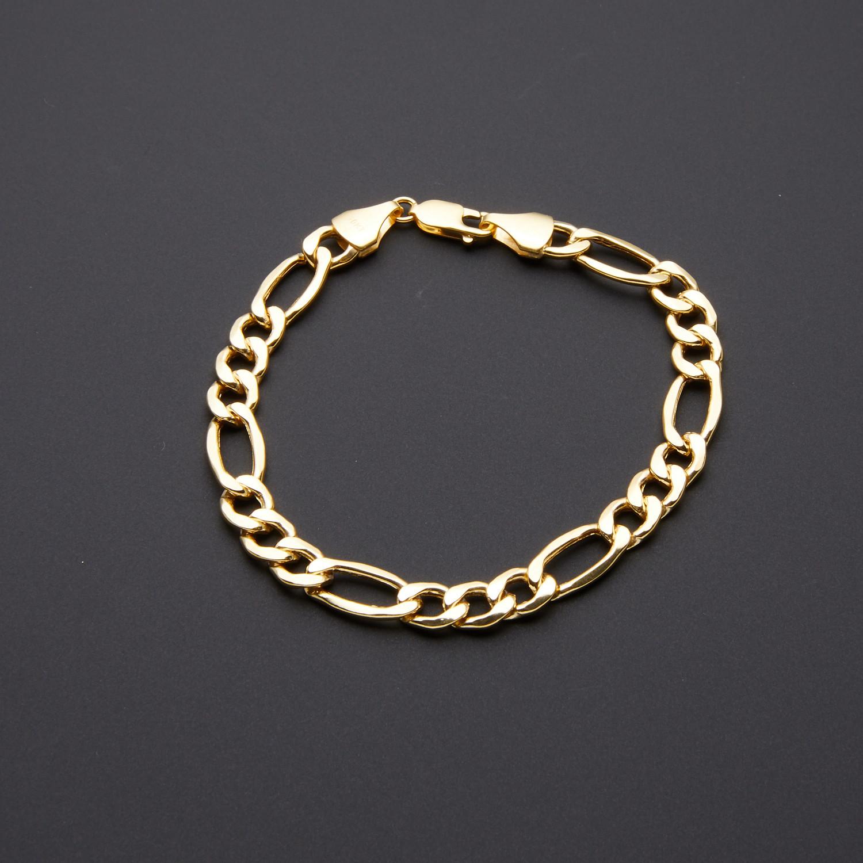 10k Yellow Gold 8 3mm Thick Figaro Chain Bracelet 5