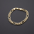 Thick Figaro Chain Bracelet // 8.3mm
