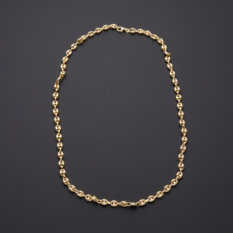 "Puff Anchor Chain Necklace // 6.5mm (24"")"