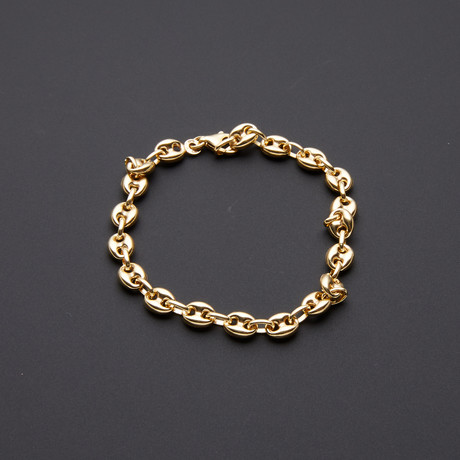 Heavyweight Puff Anchor Chain Bracelet // 6.5mm