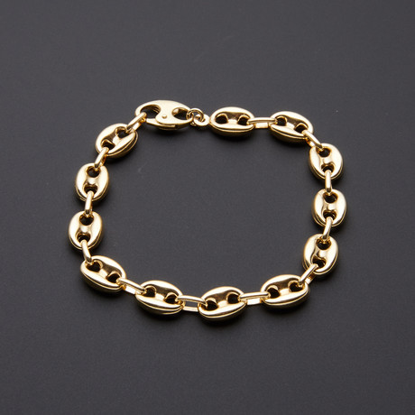 9.5mm Puff Anchor Chain Bracelet
