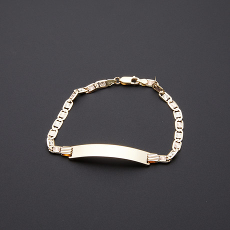 4.3mm Diamond Cut Celestial ID Bracelet