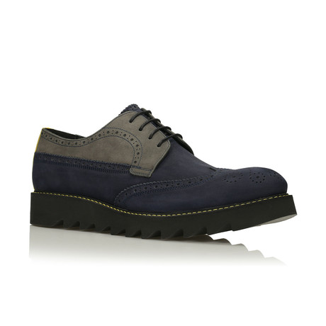 Terrance Men's shoes // Gray + Navy (Euro: 40)