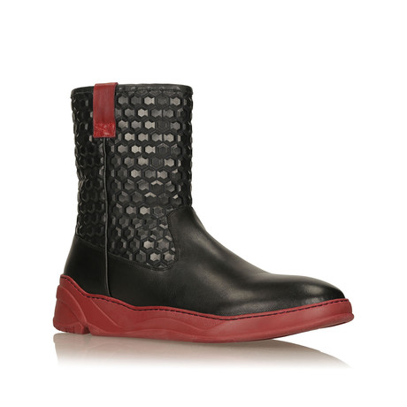 Dudley Boots // Black + Burgundy (Euro: 40)
