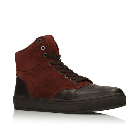 Rodney Sneakers // Brown + Claret (Euro: 40)