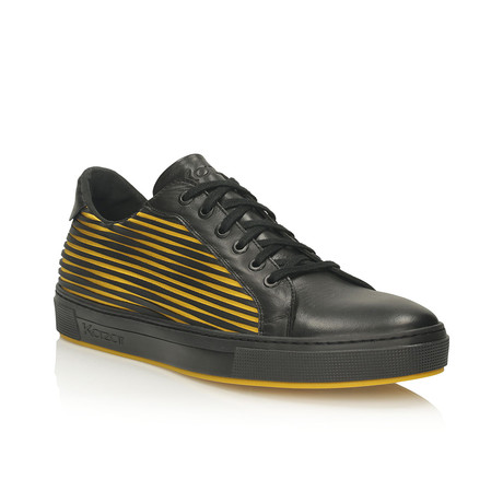 Andreas Sneakers // Black + Yellow (Euro: 40)