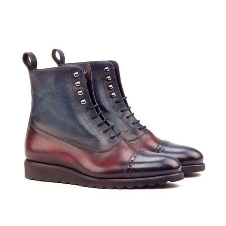 Balmoral Boot // Burgundy + Indigo (US: 6)