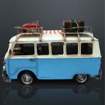 60'S Volkswagen // Handmade Metal Blue Bus