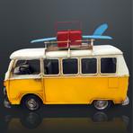 60'S Volkswagen // Handmade Metal Yellow Bus