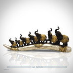 Elephants On Tusk // Fine Art Statue