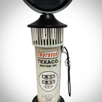 Route 66 White Gas Pump // Industrial Art Clock