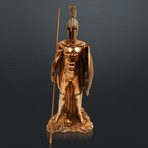 Spartan Warrior King Leonidas Royal Pose // Fine Art Statue