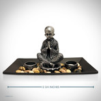 Young Buddha // Fine Art Statue And Tea Lights Tray