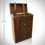 Wooden Wine Rack And Travel Luggage