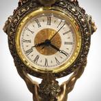 Greek Titan Atlas // Cast Bronze Statue And Clock