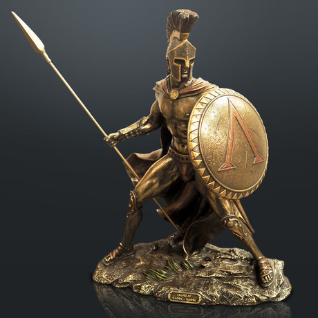 Spartan Warrior King Leonidas Battle Pose// Cast Bronze Statue