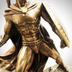 Spartan Warrior King Leonidas Battle Pose// Cast Bronze Statue